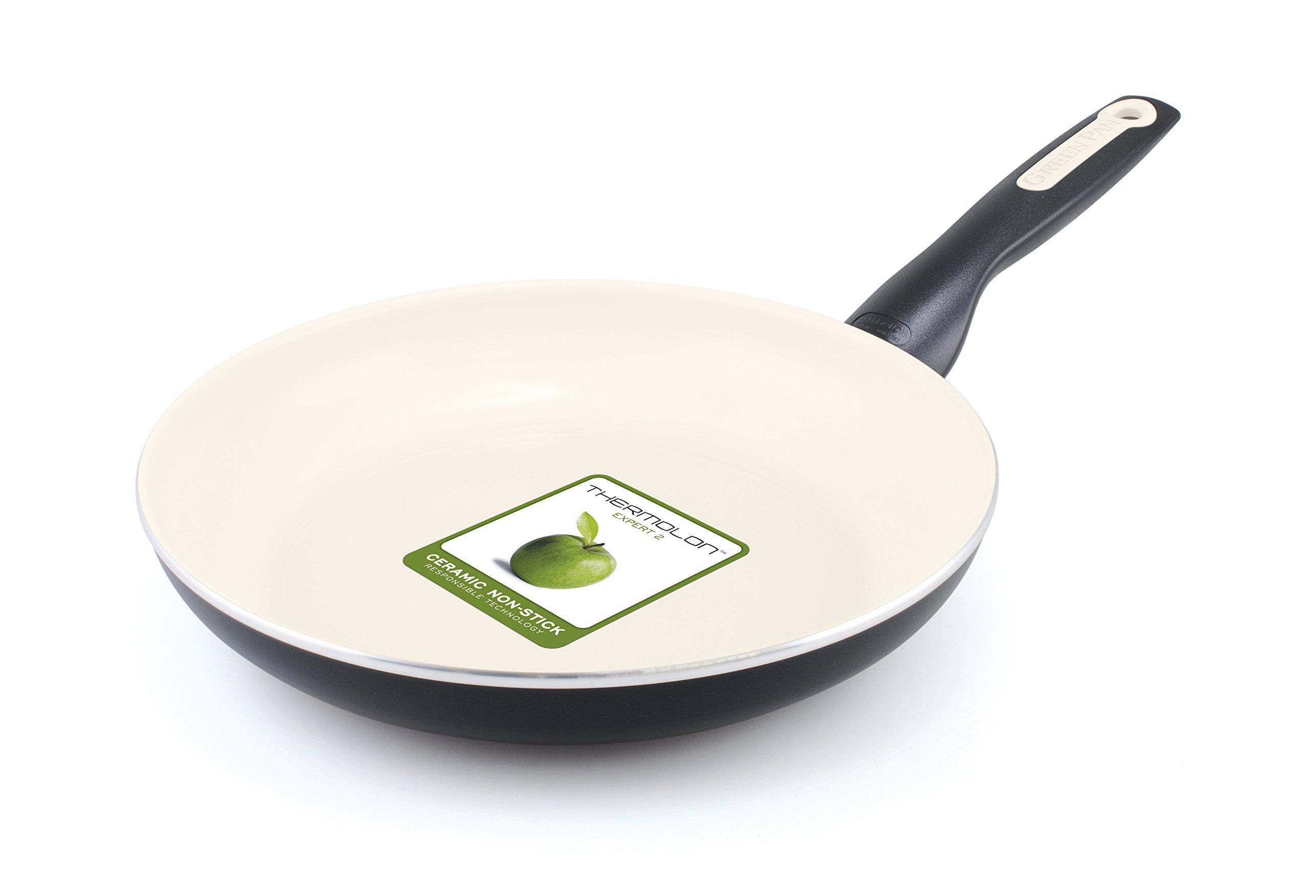 GreenPan Rio 10 Inch Ceramic Non-Stick Fry Pan, Black by GreenPan