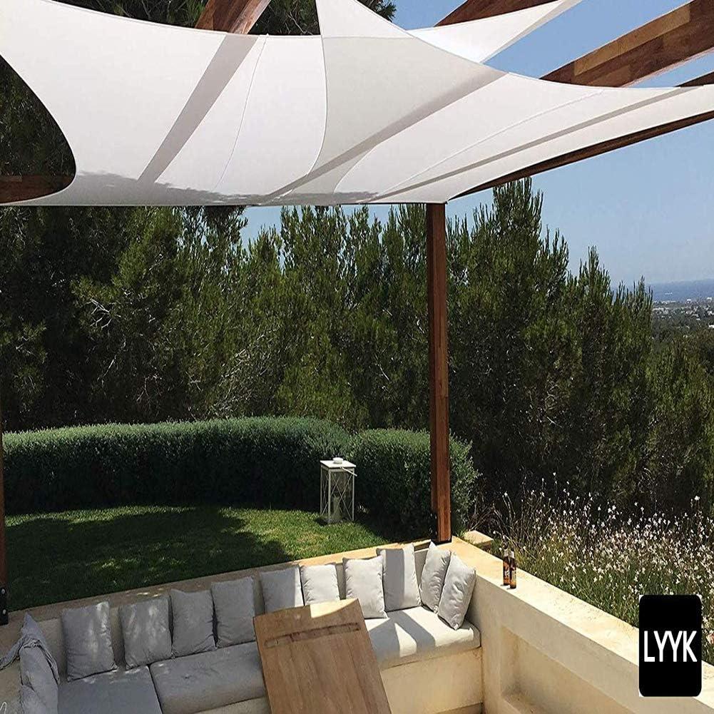 LYYK Toldo Vela 5x5.5m, Toldo Vela, 100% poliésTer Resistente ...
