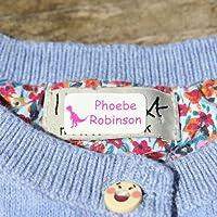 60 x Étiquettes Autocollantes Pour Vêtements, Doudous Et Affaires | Stickers Personnalisés | S'appliquent Sans Couture Ni Repassage