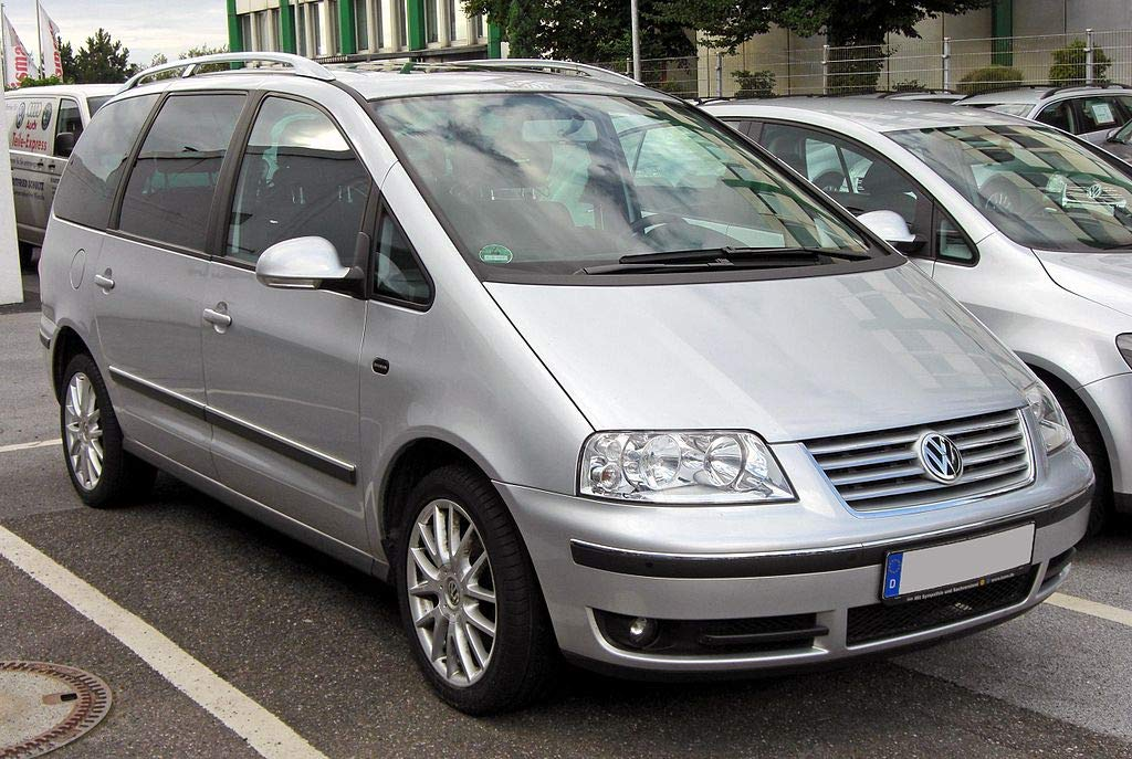 AC WOW Lot de 2 D/éflecteurs dair compatible avec VW Sharan Ford Galaxy Seat Alhambra 1995-2010