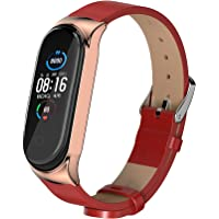 BDIG MiBand 5/4 leren armband voor Xiaomi Mi Band 5/3