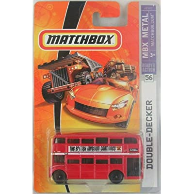 Matchbox London Bus 2007 56 Double-Decker Bus Collectible Collector 1:64 Scale Die Cast Car by Mattel: Toys & Games