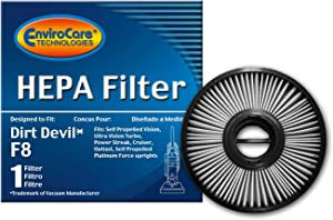 EnviroCare Replacement Premium Vacuum Cleaner HEPA Filter Made to fit Dirt Devil F8 Upright Vacuums