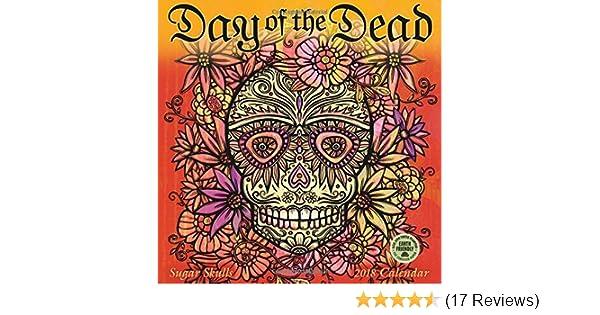 sugar skulls 2018 mini wall calendar day of the dead