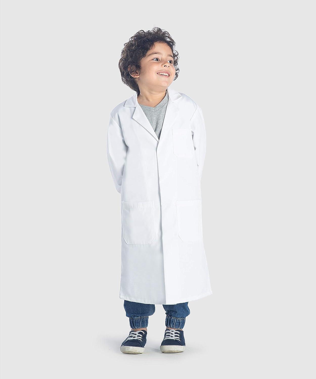 Dr James Camice da Laboratorio Unisex per Bambini Bottoni di Sicurezza a Scatto DR8-14//16