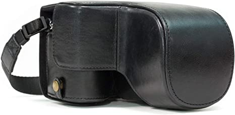 Ever Ready Genuine Leather Camera Case /& Strap with Battery Access MegaGear MG1201 Sony Alpha A6500 up to 16-70mm Lens Black