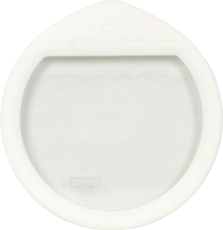 Pyrex Ultimate OV-7402 White Round Glass Storage Lid