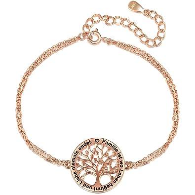 viele modisch neue Season professioneller Verkauf LOVORDS Damen Halskette aus 925 Sterling Silber Lebensbaum Anhänger mit  Gravur Geschenk für Mama oder Oma