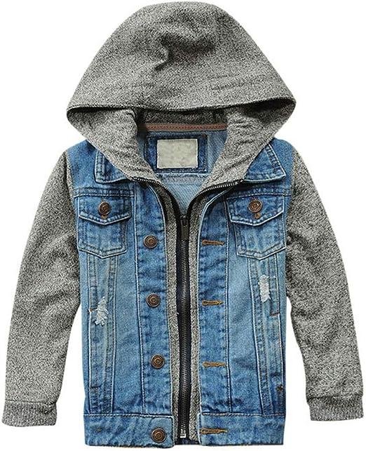 Men vintage print denim jeans Jacket boys  autumn denim jacket coat outwear