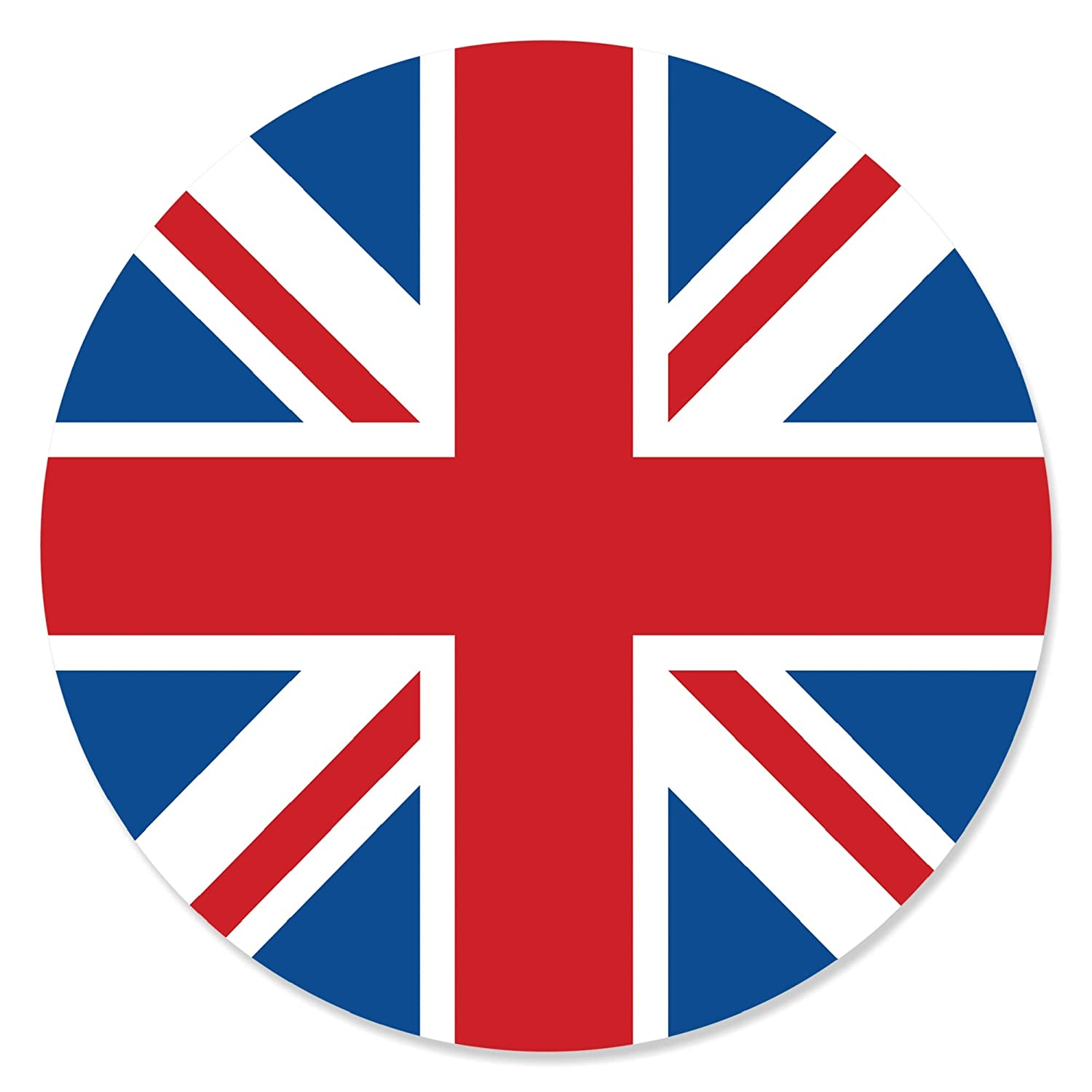 British UK Party Circle Sticker Labels London Big Dot of Happiness Cheerio 24 Count