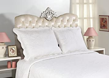 Amazon.com: All For You 2-Piece Embroidered Quilted Pillow shams ...
