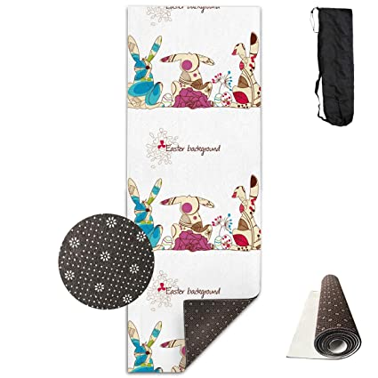 Amazoncom Canmat Cool Easter Bunny Thick Extra Long Yoga Mat
