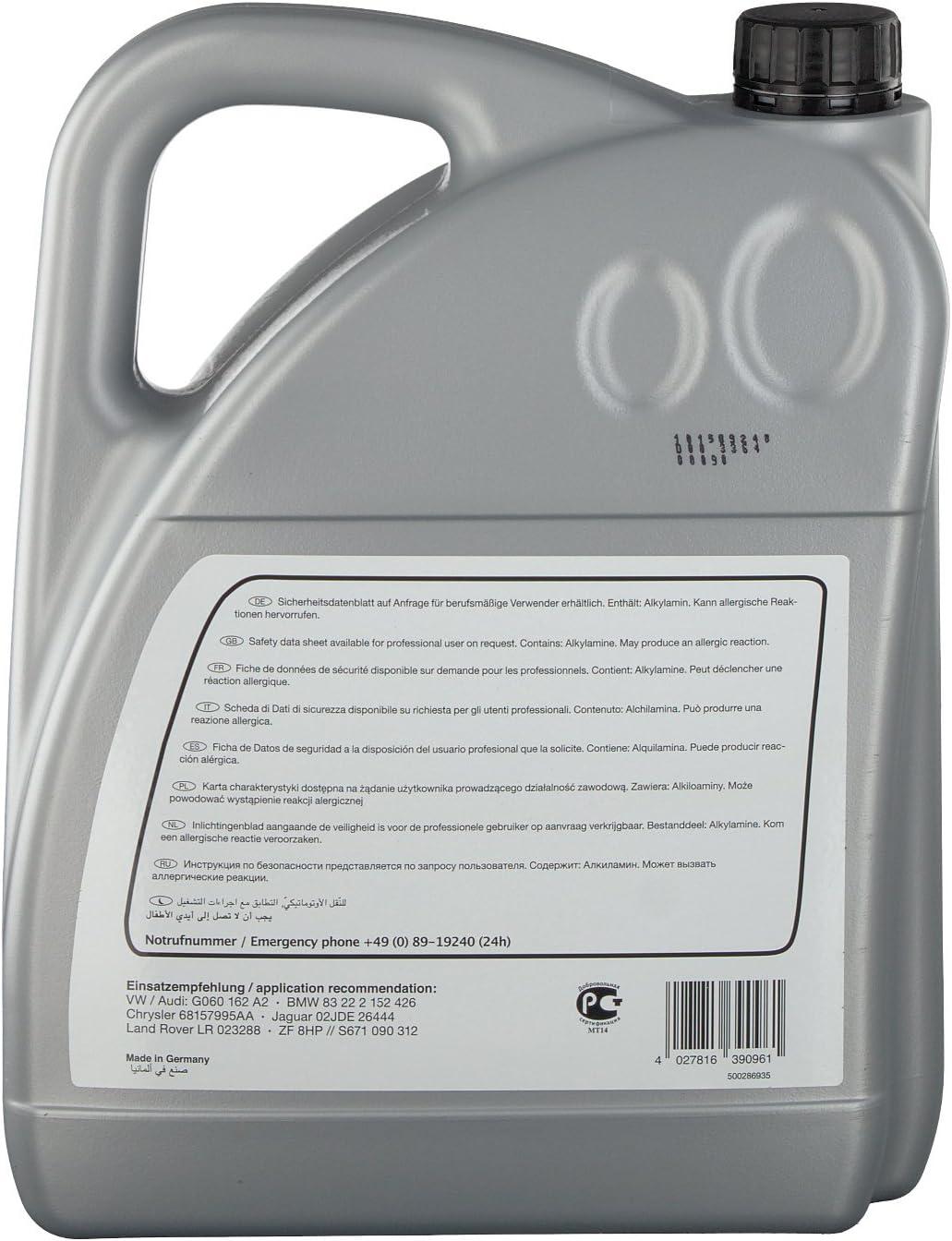 Febi Bilstein 39095 Automatic Transmission Fluid Atf Life Guard 8 Green 5 Litres Auto