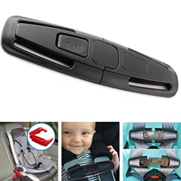 2 Pack Car Seat Chest Harness Clip and Car Seat Safety Belt Clip Buckle for Baby