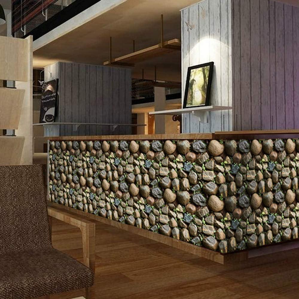 Wanweitong Papier Peint Auto-Adh/ésif Papier Peint Motif de Brique Pierre Vinyle 3D pour Home Chambre Salon TV Fond D/écoratif Autocollant Mural 45cm x 200cm 2000cm, A6