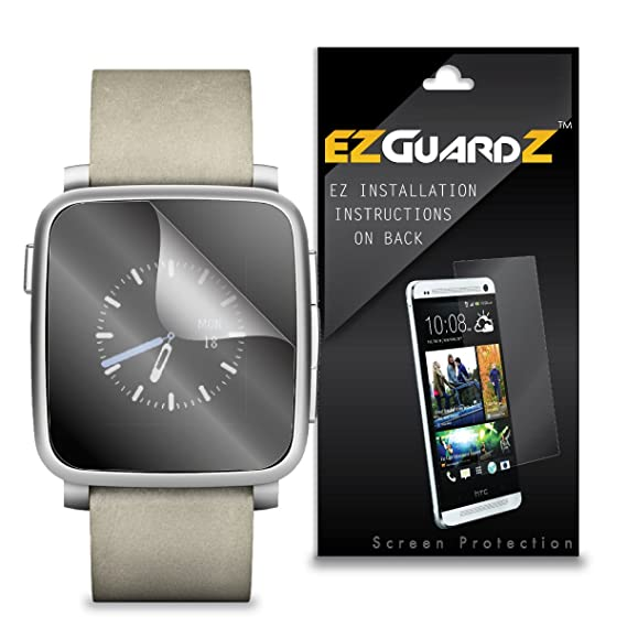 Amazon.com: (6-Pack) EZGuardZ Screen Protector for Pebble ...