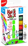 The Pencil Grip Kwik Stix Solid Tempera Paint, Super Quick Drying, 6 /Pack (TPG-601)