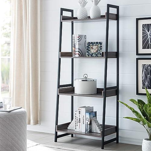 AMOAK 4-Tier Bookshelf - the best modern bookcase for the money