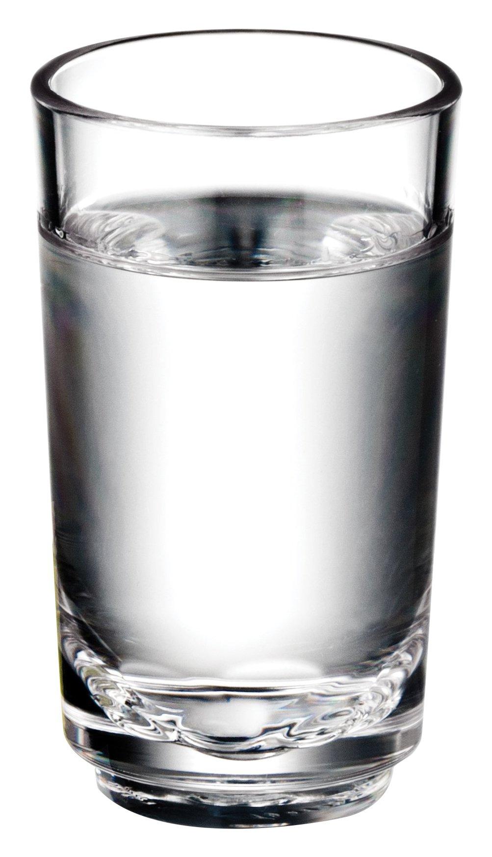 Drinique Elite Shot Glass Unbreakable BPA-free Tritan, Premium Plastic Drinkware, 2 oz., Clear, Case of 42