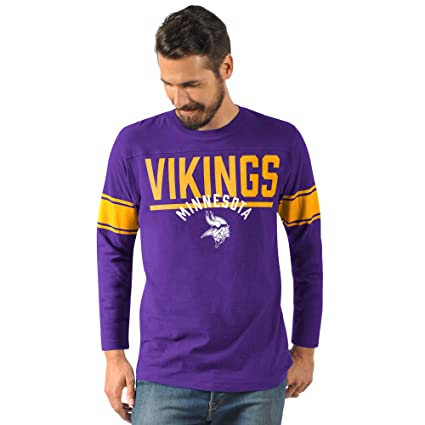73a600c22 G-III Sports Minnesota Vikings Men's Champion Long Sleeve Fashion T-Shirt  Small