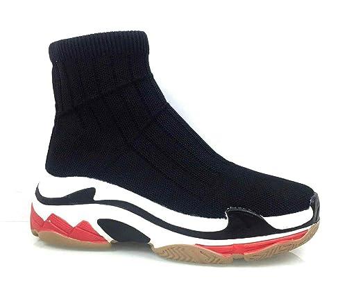 Scarpe Donna Ginnastica Sneakers A Calza CALZINO Elastico