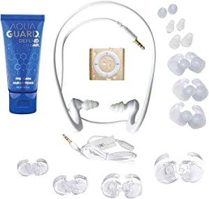 Underwater Audio 100% Waterproofing Compatible with iPod Shuffle, HydroActive Headphones, AquaGuard (Gold)
