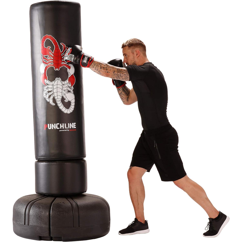 gef/üllt Ideal F/ür Realistisches Boxtraining auf h/öchstem Niveau Boxsack Stehend Mit Bef/üllbarem Standfu/ß Und 80kg Eigengewicht Punchline Standboxsack Scorpion 170 Boxdummy Mit 1,70m Gesamth/öhe