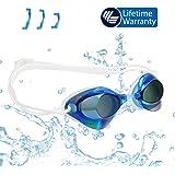 Schwimmbrille Swimming Goggles—Erwachsene-Herren Damen Optische Junior Antibeschlag Schwarze Seal Antibeschlagspray Training Profi Unisex Flash Nasensteg