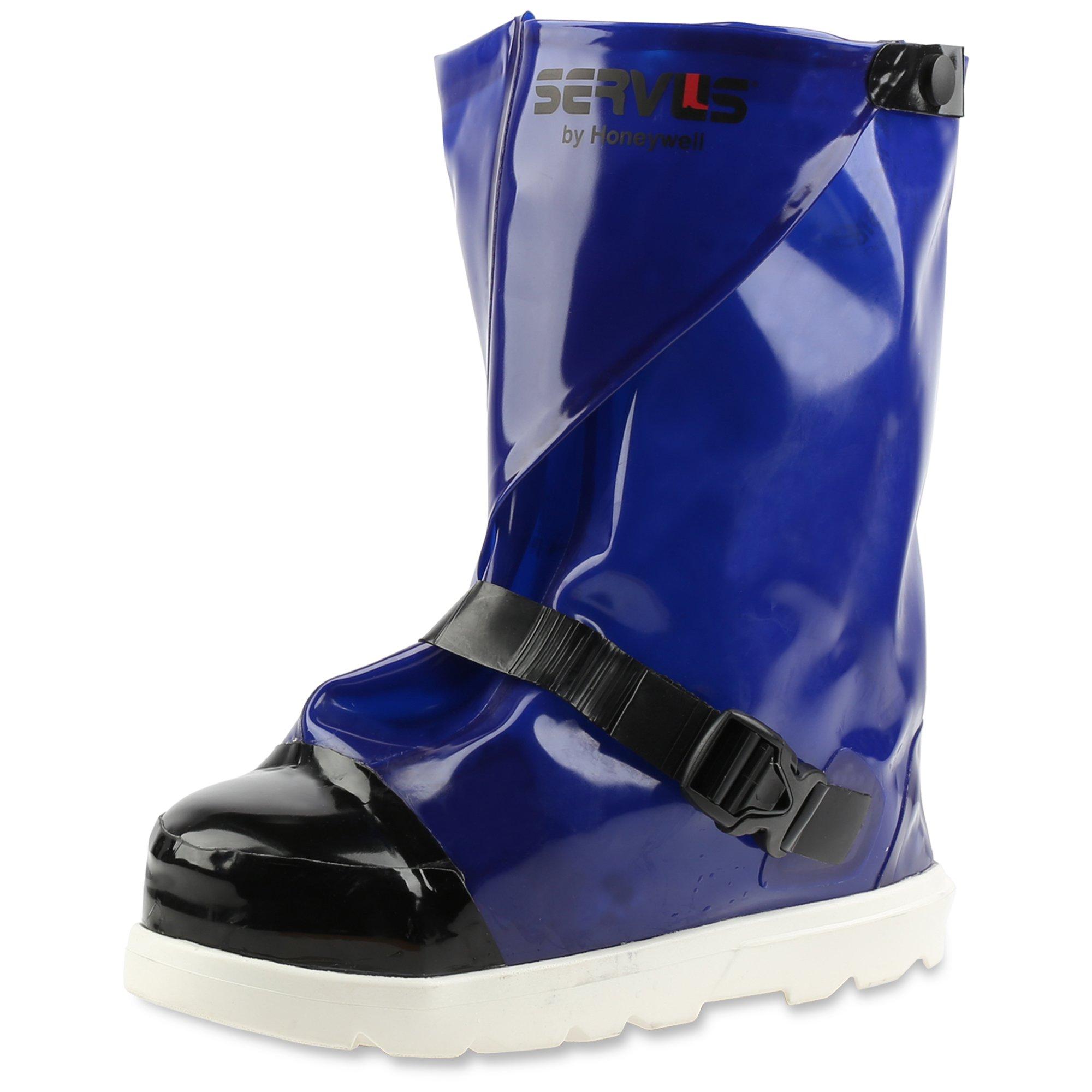Servus 12'' Polyurethane Steel Toe Processing Overboots, Blue & White (IT12ST17)