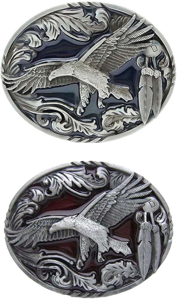 Baoblaze Hebillas de Cintur/ón para Hombres Aleaci/ón de Zinc Patr/ón de /Águila Hebilla de Negocio Trabajo 8 x 6cm