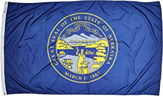 product image for Annin Flagmakers Model 143280 Nebraska Flag Nylon SolarGuard NYL-Glo, 5x8 ft, 100% Made in USA to Official State Design Specifications