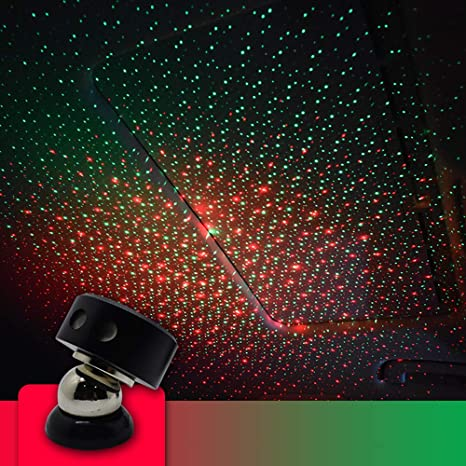 Amazon Com Usb Night Light Car Star Ceiling Light Car Stars Projector Car And Home Ceiling Romantic Usb Night Light For Car Ceiling Bedroom Party And More Red Green Home Improvement