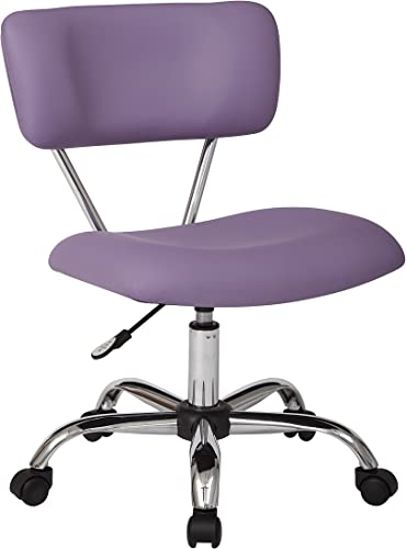 OSP Home Furnishings Vista Faux Leather Seat and Back Task Chair