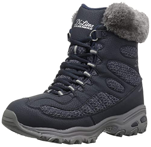SKECHERS Skechers Womens Boot D'Lites Bomb Cyclone Navy