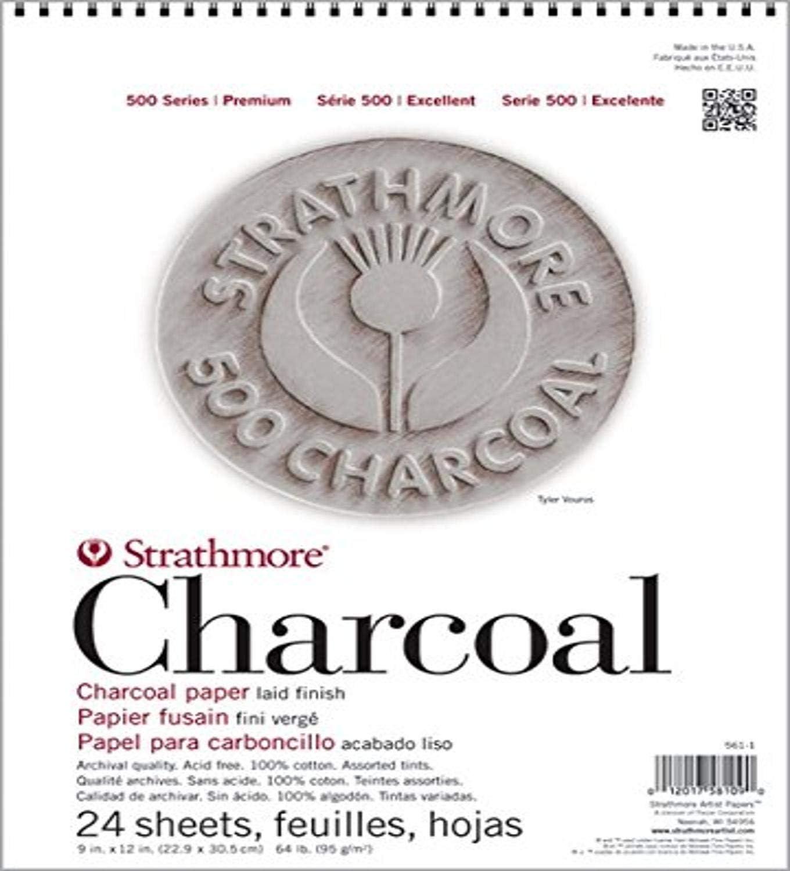 Strathmore Str-561 12/par 45,7/cm 2/Feuille de 24/assortis Tint Pad de charbon de bois