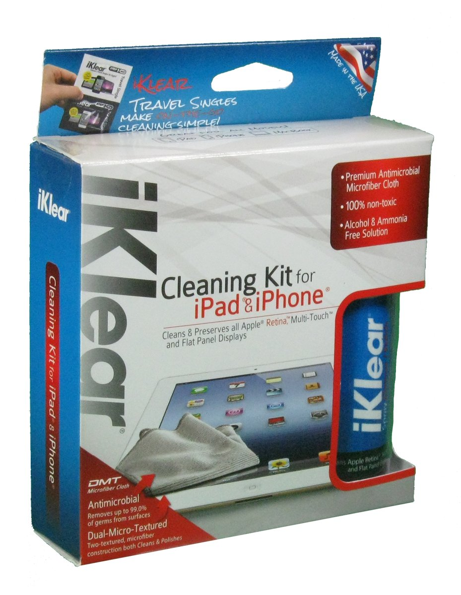 Plasma /& LCD Screens Klear Screen iKlear Cleaning Kit for Apple iPhone iPad Devices HDTVs