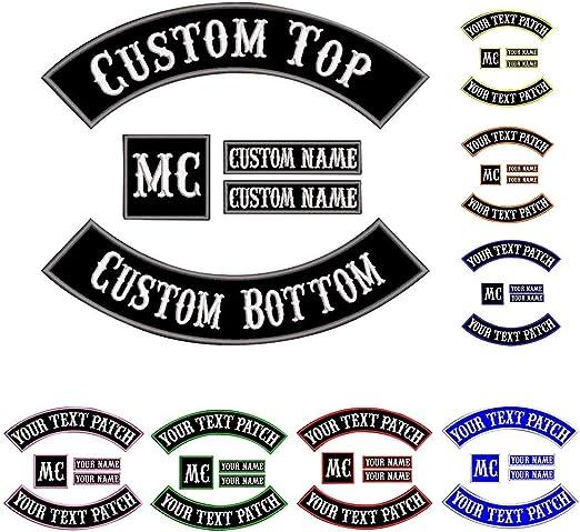 Custom Patch Vest Biker Motorcycle Rocker Name Patches