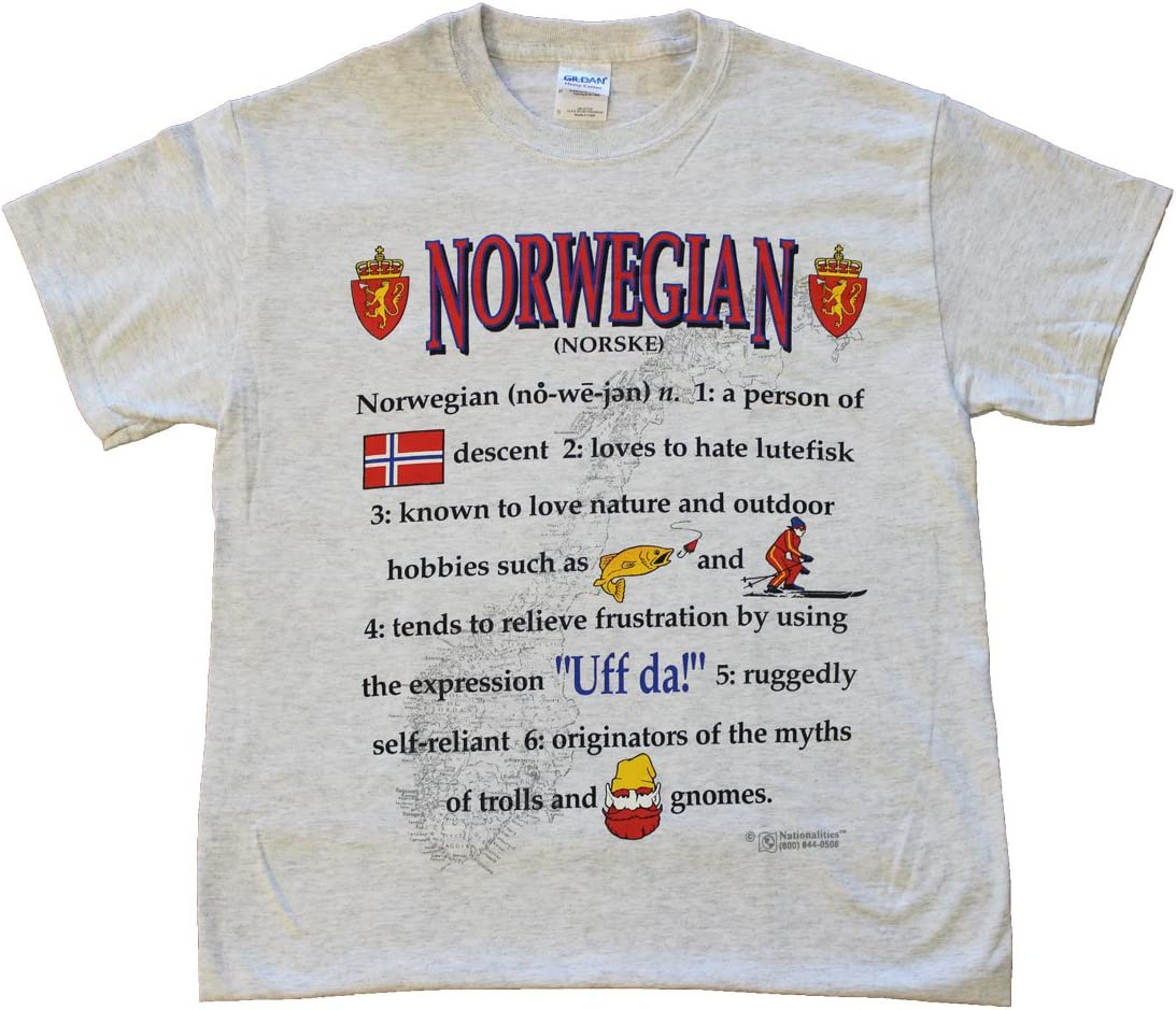 Amazon Com Flagline Norway Nationality Definition T Shirt Large Garden Outdoor