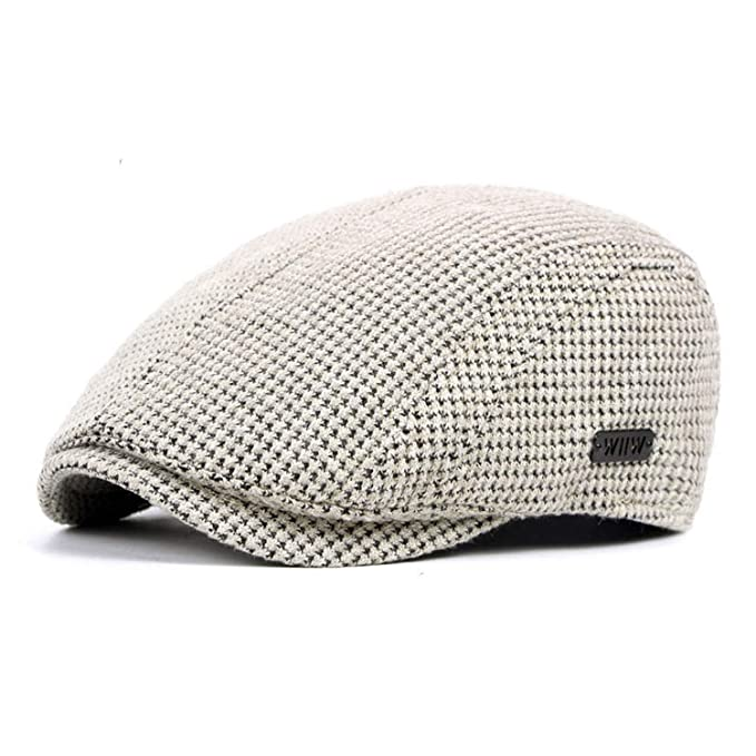 289829e47 Autumn Winter Knitted Men Beret Hat Vintage Newsboy Cap at Amazon ...