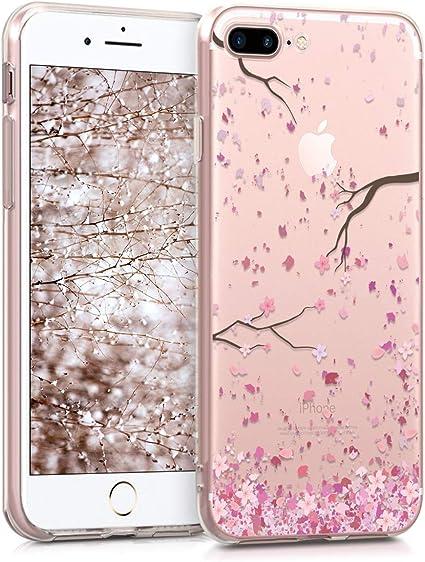 kwmobile Funda Compatible con Apple iPhone XS Carcasa de TPU y Flores Colores en Multicolor//Transparente