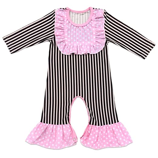 cf2168e114 Baby Girls Icing Ruffle Jumpsuit Leggings Cotton Long Sleeve Floral Ruffles  Christmas Romper for Kids Pajamas