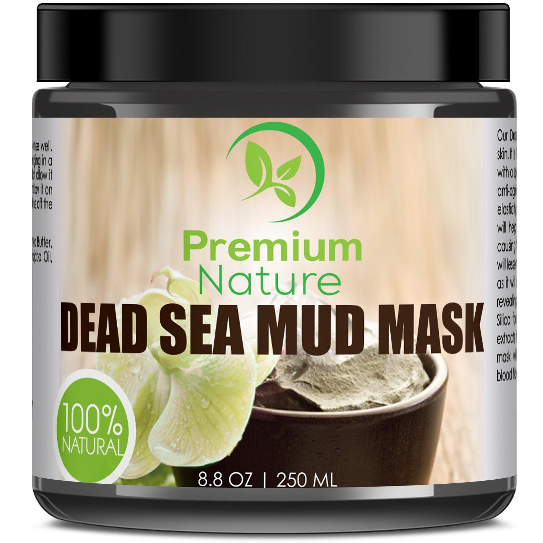 Máscara de barro para cara y cuerpo del Mar Muerto, de 226 g. Derrite la celulitis, trata las marcas de acné, elimina estrías. Mascarilla desintoxicante que ...