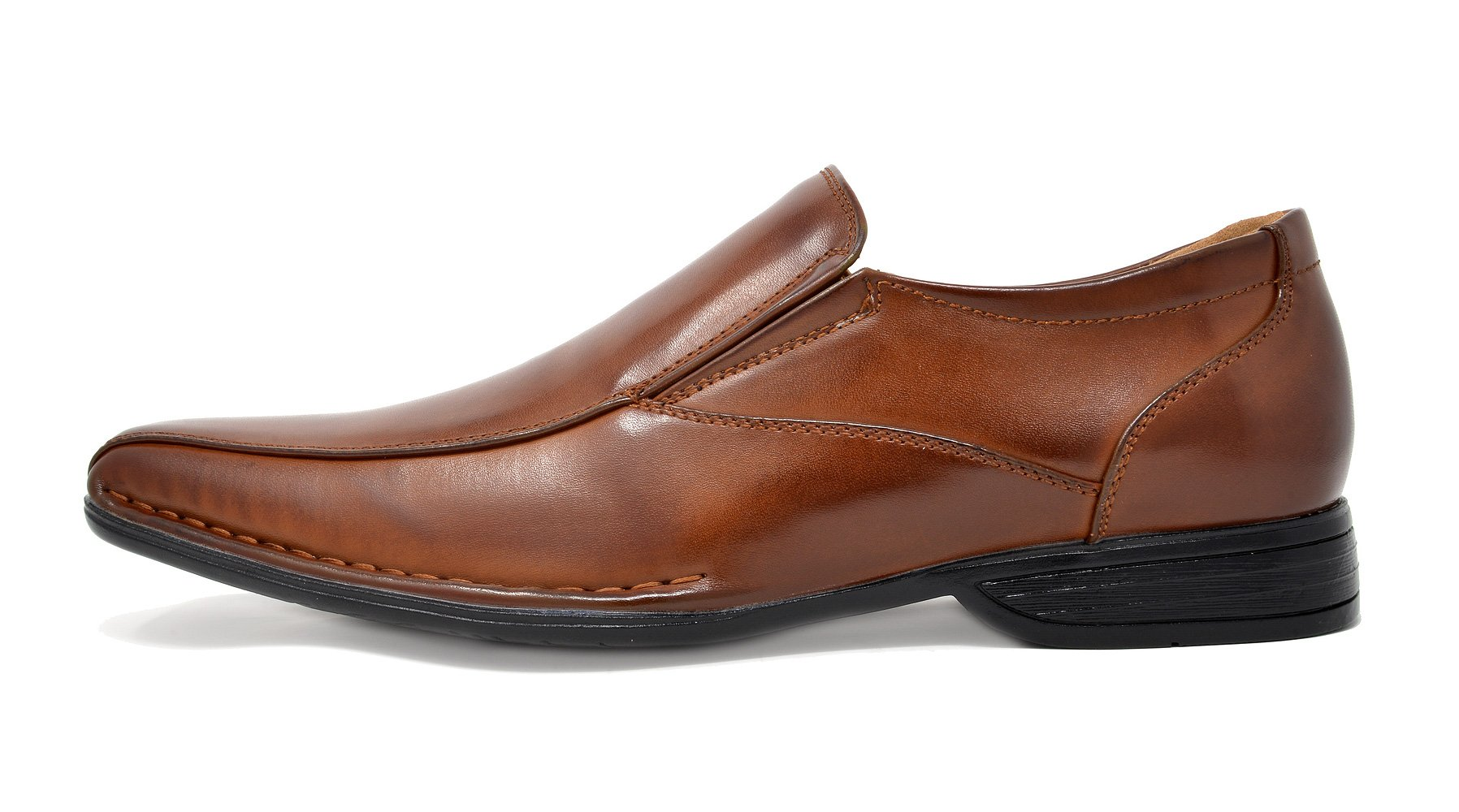 Bruno Marc Men's Giorgio-1 Brown Leather Lined Dress Loafers Shoes - 11 M US by BRUNO MARC NEW YORK (Image #2)