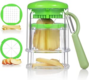 Multifunctional French Fry Cutter, Safe and Efficient Apple Cutter Potato Slicer, Easy Operate and Clean Potato Cutter Onion slicer, Super Sharp Vegetable Cutter Apple Slicer