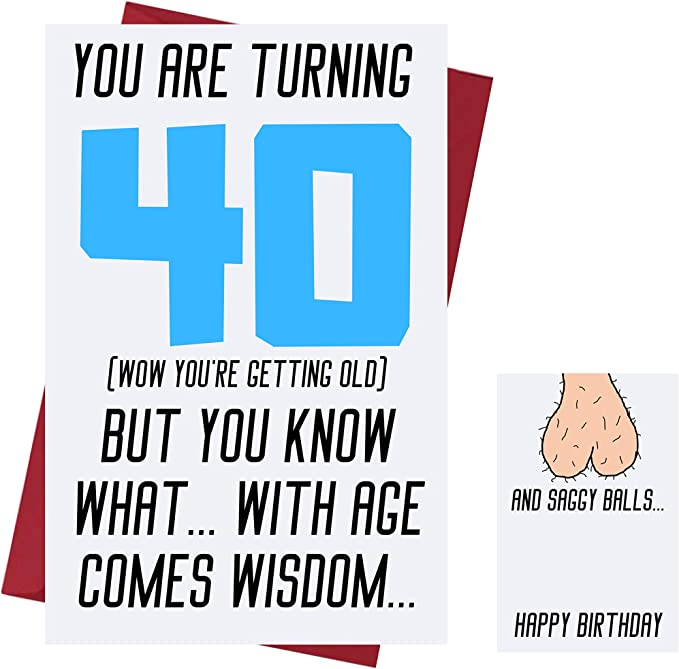 Amazon Com Funny Offensive Rude Sarcasm 40th Birthday Cards For Men Boyfriend Husband Dad Friends Offensive Birthday Cards 40 Years Old Offensive Rude Sarcasm Birthday Cards 40th Anniversary Office Products