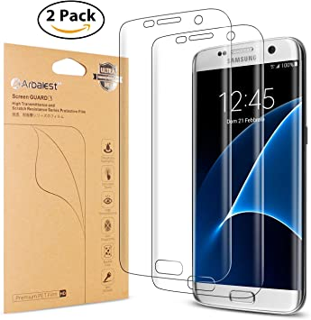 Arbalest® S7 Edge Protector de Pantalla, [Extreme Clear] 3D a ...
