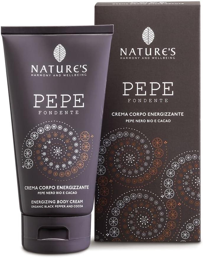 Nature s Pepe fondente energizantes Crema Corporal, pimienta negra & Cacao, 150 ml