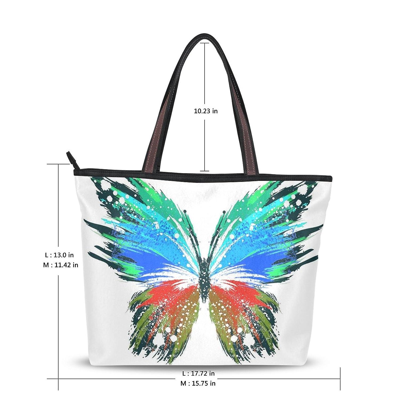 INGBAGS Fashion Large Tote Shoulder Bag Butterfly Pattern Women Ladies Handbag