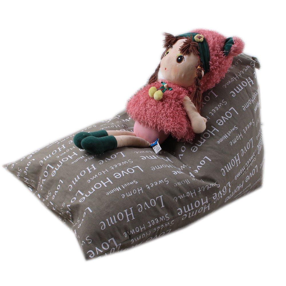 Cinhent Bag 1PC Home Kids Stuffed Animal Plush Toy Storage Bean Bag,Double Zipper + Stitch,Pouch Stripe Fabric Chair,Super Soft,Convenient Towel Dress Up Quilt Closet (H)