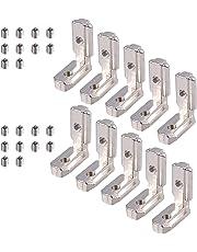 20x20x2mm estantes gabinete DOITOOL 50 piezas Soporte de esquina de acero inoxidable negro Escuadras de /ángulo para soporte de /ángulo de servicio soporte de estante para madera muebles
